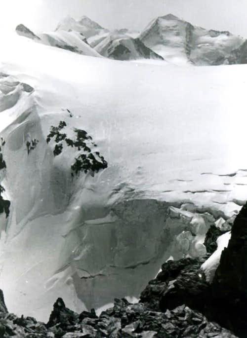 Near the Summit to Mount Rosa