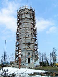 The tower being restored during 2006