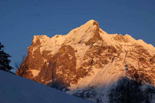 A Wetterhorn sunset