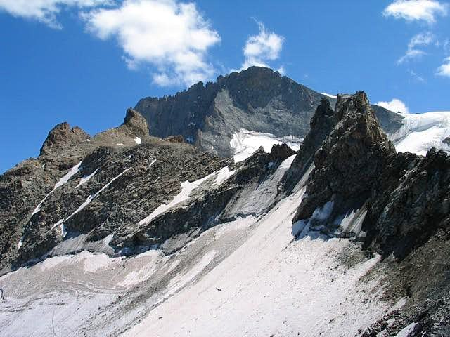 Le Rateau (3809m) seen from...