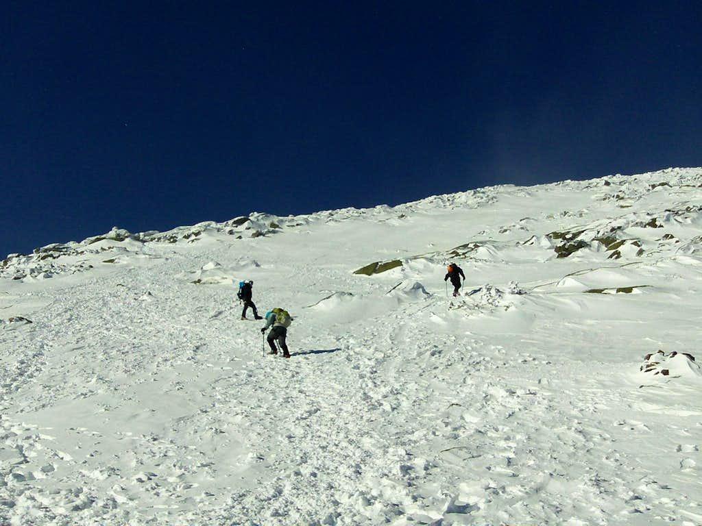 Mount Washington Climbing to Split Rock