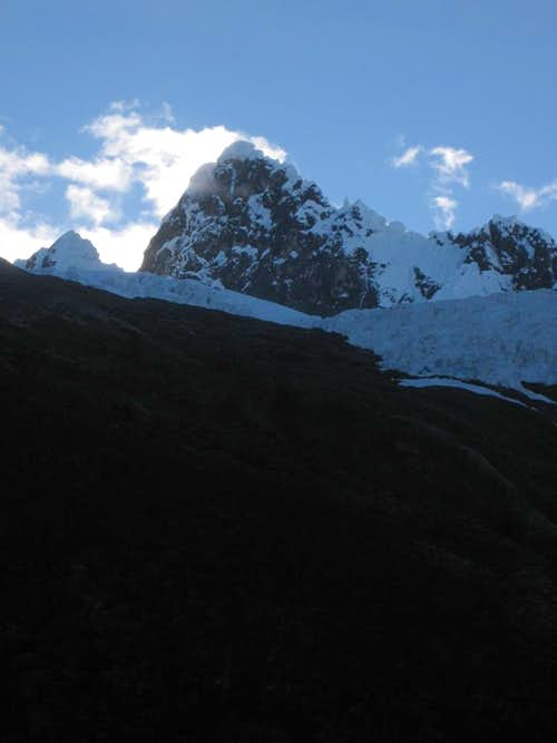 Dawn  in the Cordillera Blanca
