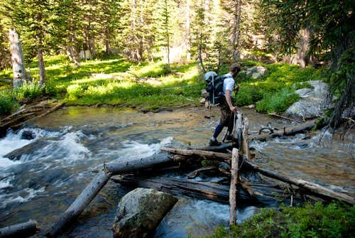 Crossing Saint Vrain Creek