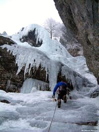 Icefall climbs in the  Alps