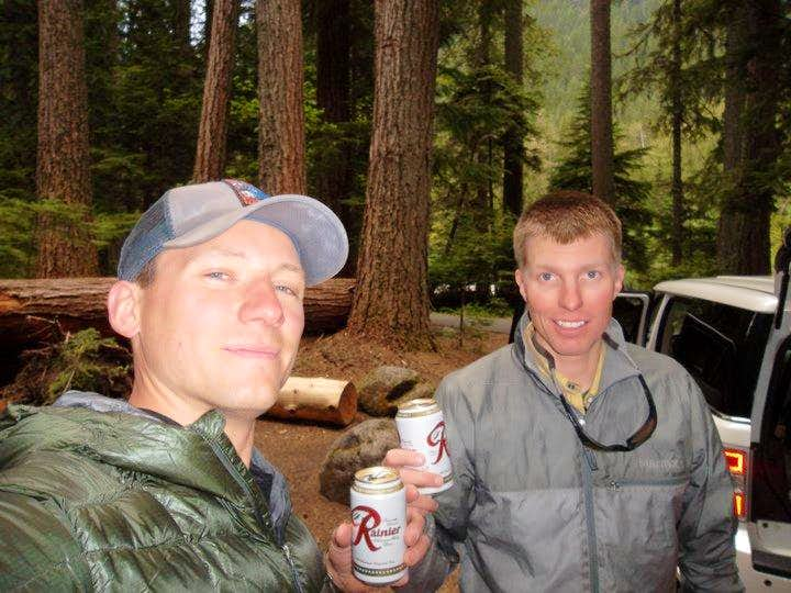Accomodating campgrounds and pre-climb Rainier beer.