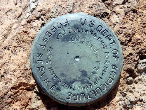 (b) USGS Summit Marker