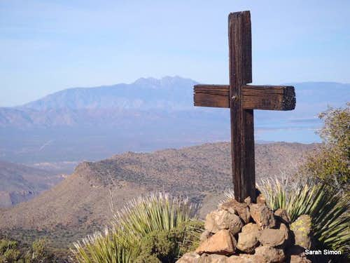 Summit cross and Four Peaks