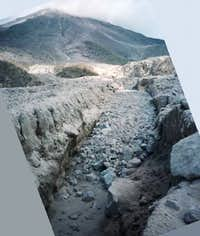 Colima pyroclastic flow deposit