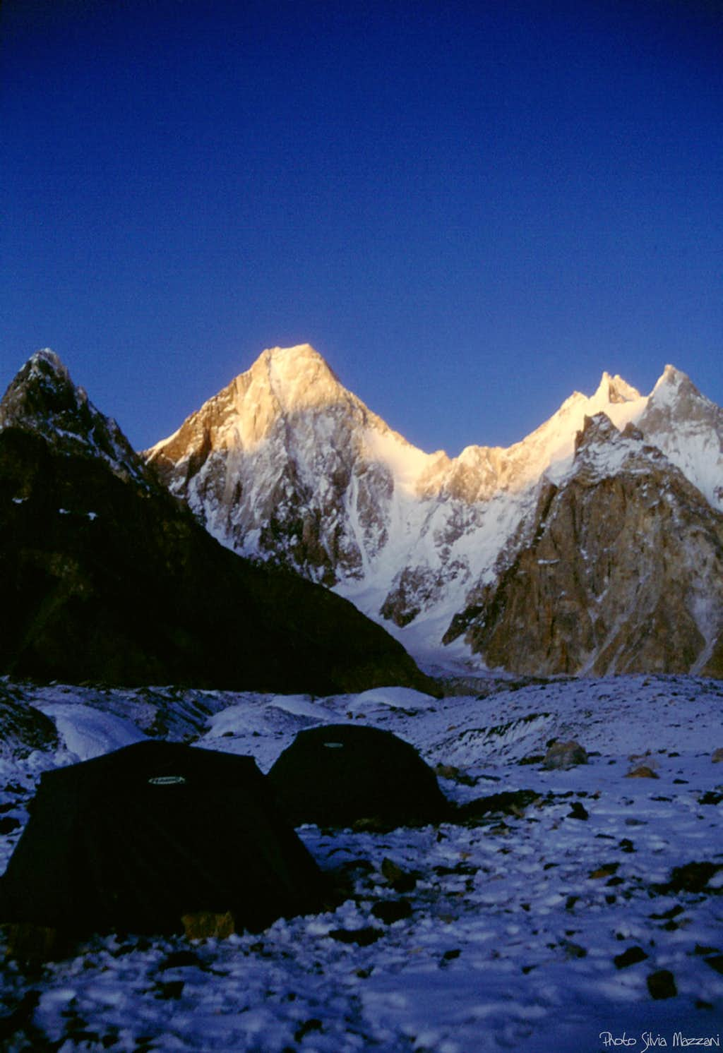 Sunset on Gasherbrum IV, one of the finest peak in the world