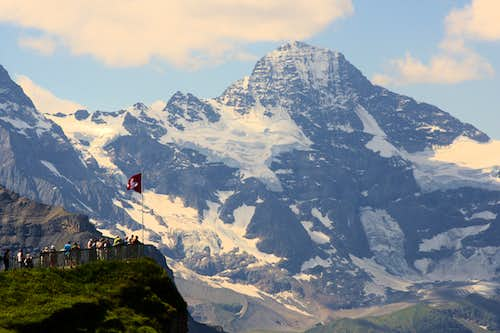 Breithorn (and a red helicopter)