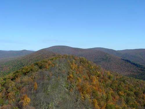 Halfmoon Mountain, Mill Mountain, and Sugar Knob