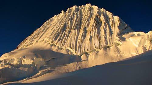 Alpamayo from glacier camp