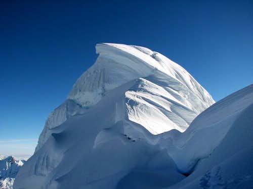 Summit of Chopicalqui from SW ridge