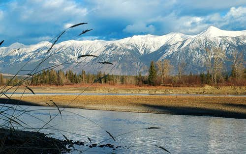 Kootenay River and Teepee Mountain