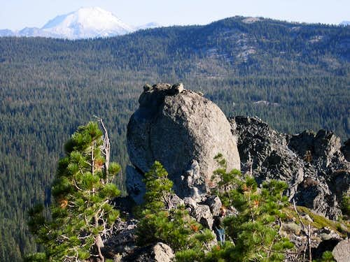 summit boulder & Lassen Peak