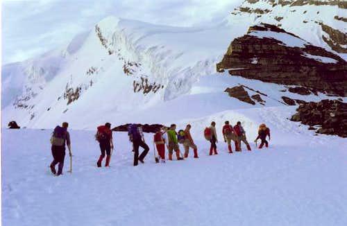 Halfway up the Doldenhorn...