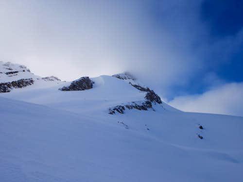 Mont des Poilus - South Glacier in clouds