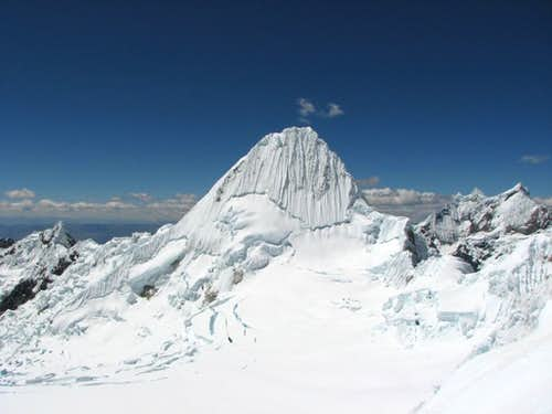 Alpamayo from North face of Quitaraju