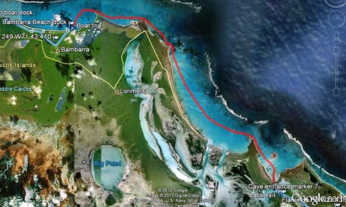 East Caicos boat route