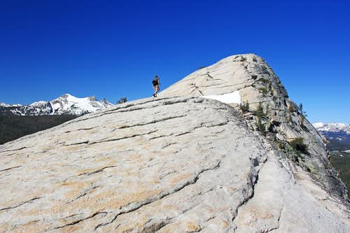 Hiker on Lembert Dome
