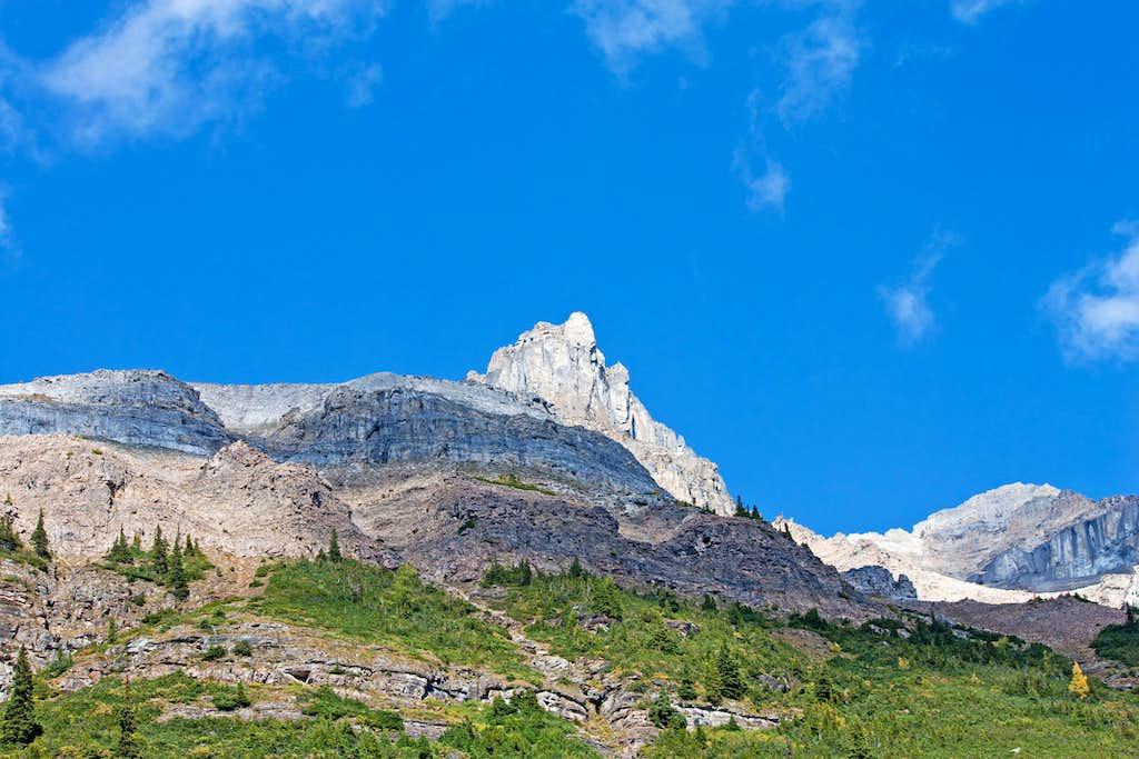 Along the Plain of Six Glaciers Trail