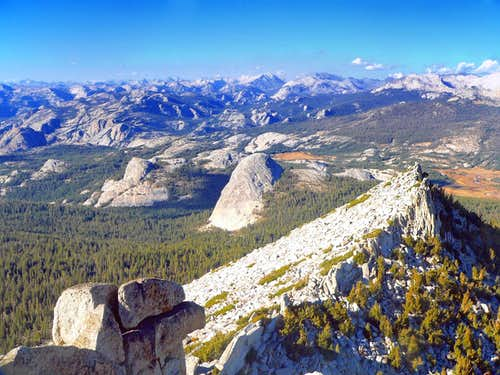 Daff Dome and Fairview Dome from Cathedral Peak