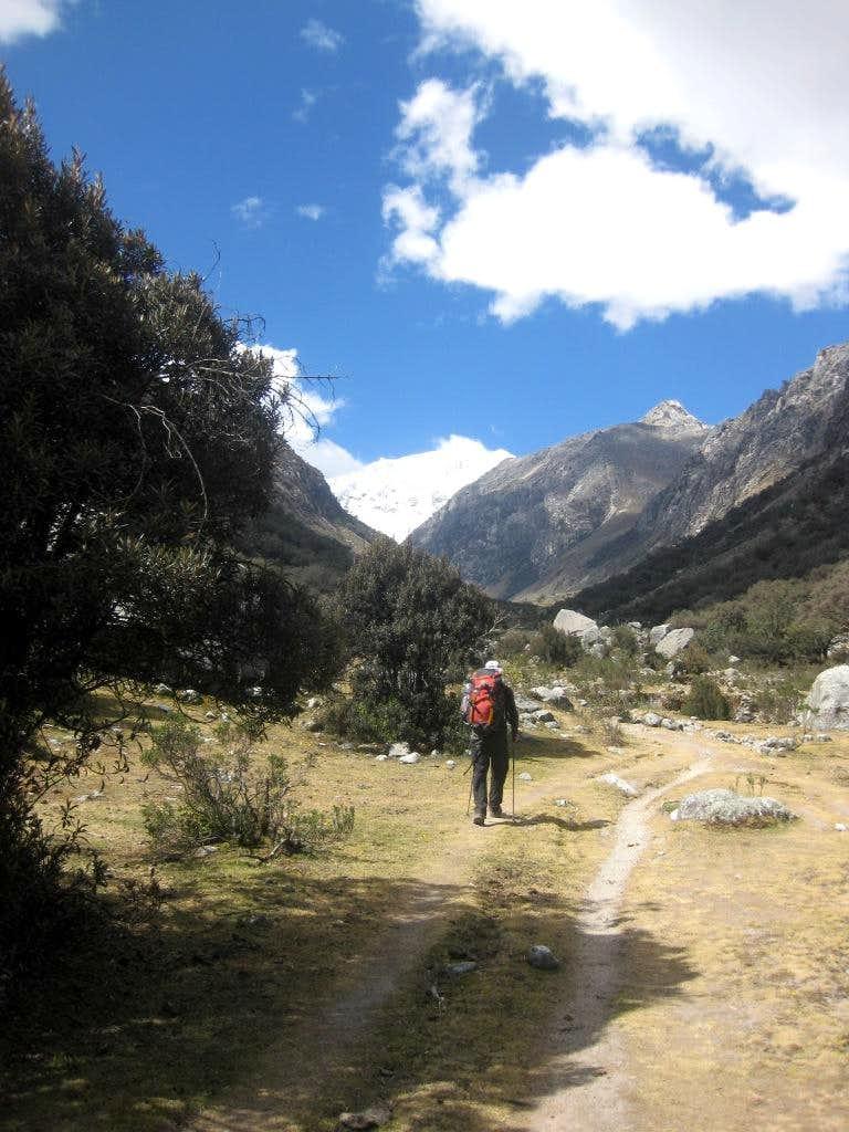 Hiking into the Ishinca valley