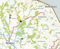 Map to Korvatunturi