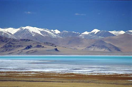 A super saline lake north of...