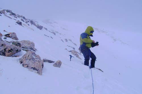 Topping out of the west ridge of Quandary