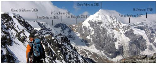 Panoramic View on Ortles - Gran Zebrù Subgroup
