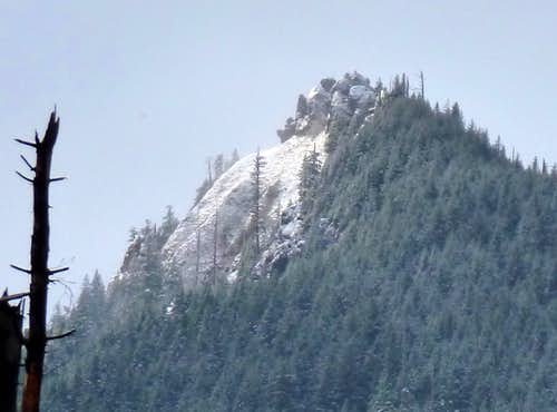 Close-up of the summit...