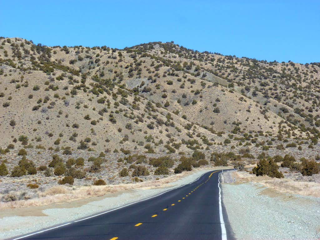 Approaching Peak 6030 from Matterhorn Blvd in Lemmon Valley, Nevada