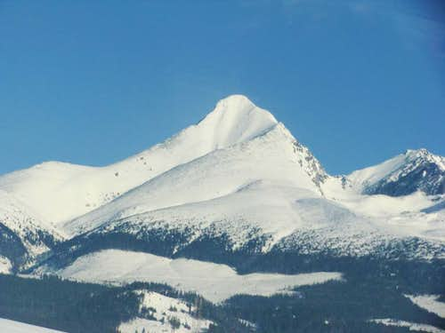 The February Parade of Tatra peaks