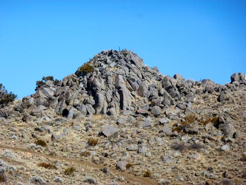 Zoom shot of summit rocks