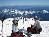 Chill break on the way to Camp Muir