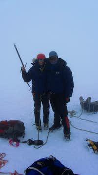 summit w. Sherpa Lakpa