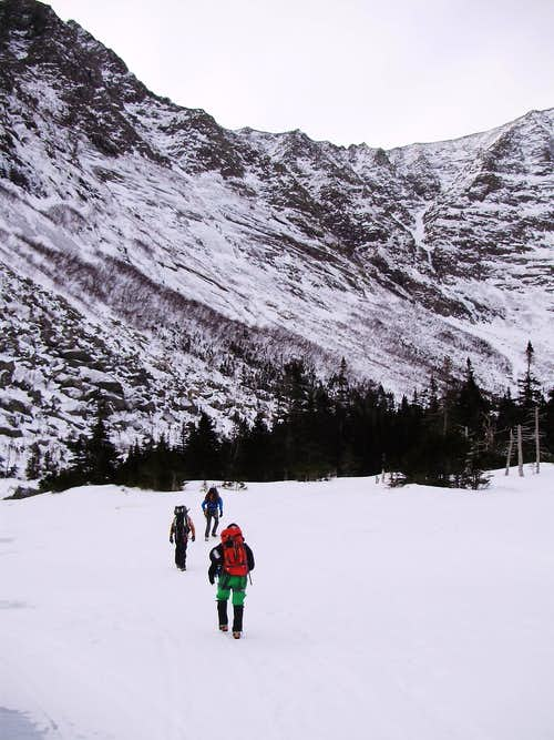 Crossing Chimney Pond