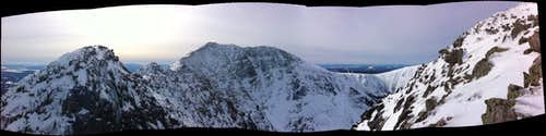 Panoramic shot from Chimney Peak