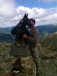 Kadin and I on the summit of Wheeler