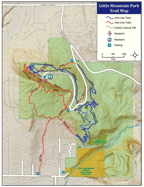 Little Mountain - Trail Map