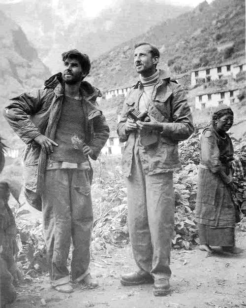 Michael Ward and W H Murray 1951 Namche Bazar