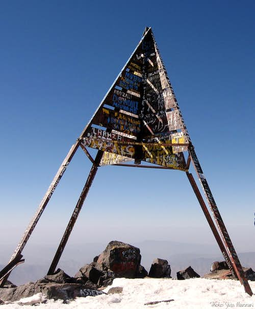 The Jebel Toubkal summit signal