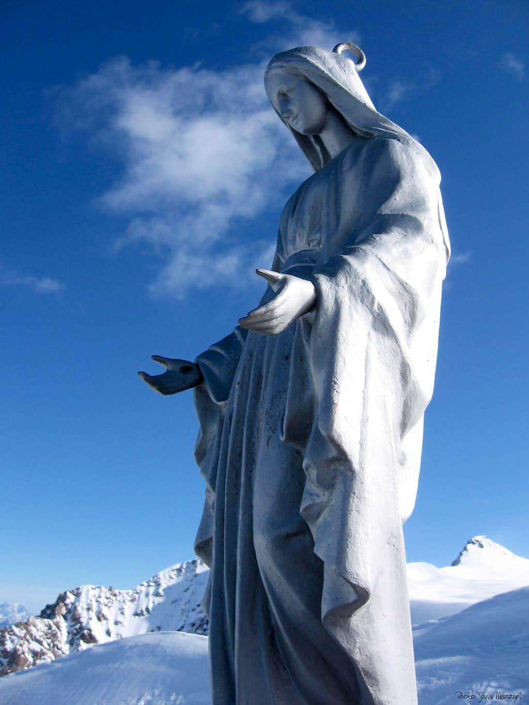 A Mary's statue on Corno Nero