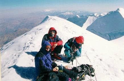 On top of Illimani, summer 1999