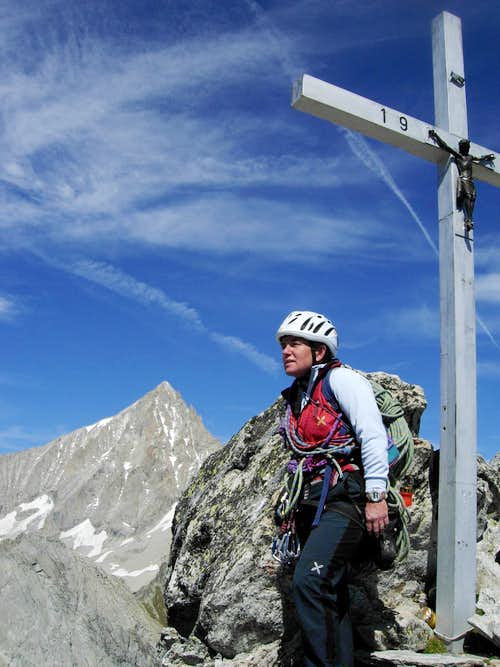 An iron cross on Wiwannihorn, Wallis