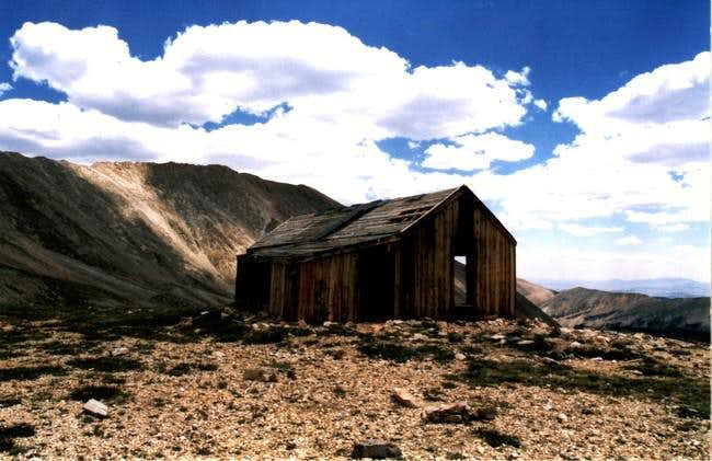 Old mining building on the...