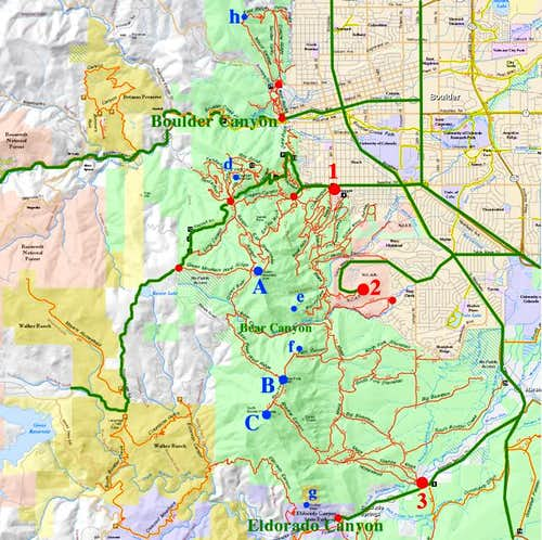 Overview map of the Boulder...