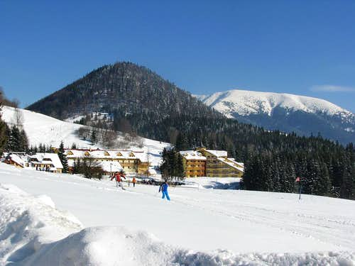 Ski resort Donovaly - with mount Prasiva