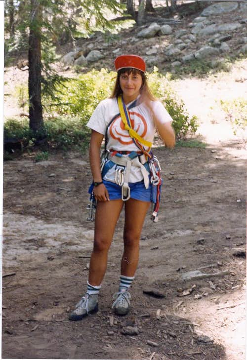 After climbing Anti-Jello crack at Dome Rock, 1985